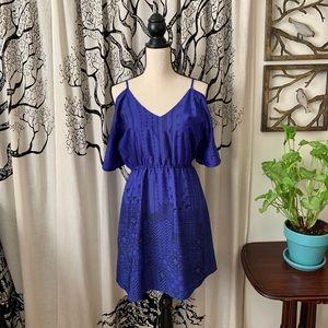 C Luce Cold Shoulder Dress w/Open Back
